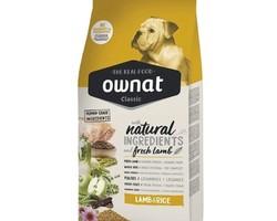 ownat classic lamb rice 20 kg