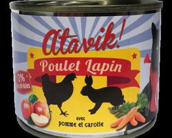 atavik chat pâtée 200 g poulet lapin
