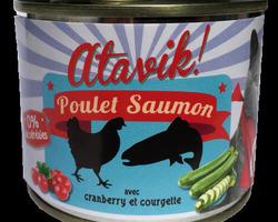 atavik chat pâtée 200 g poulet saumon
