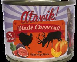 atavik chat pâtée 200 g dinde chevreuil