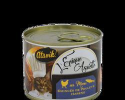 Atavik Chat- l'Epique Assiette - Emincés de poulet et de hareng 200g