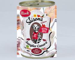 Atavik Chien - 4 saisons Automne - Sanglier-canard 400g