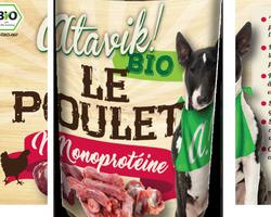 Atavik BIO chien - Pâtée monoprotéine au poulet 400g
